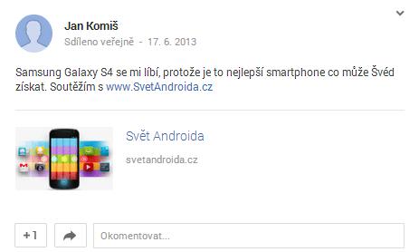 Jan Komiš soutěž Svět Androida