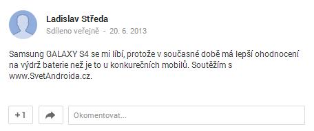Ladislav Středa soutěž Svět Androida