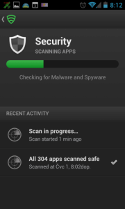 Sekce Security