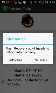 Instalace custom recovery