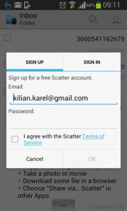 Přihlášení nebo registrace na telefonu