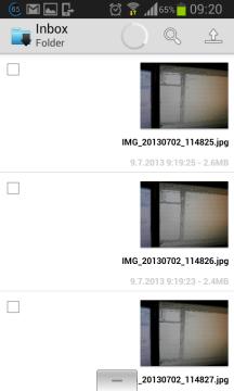 Sdílené obrázky z galerie v telefonu