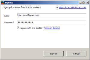 Registrace vyžaduje jen e-mail a heslo