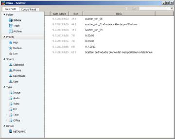 Prostředí Scatteru pro Windows