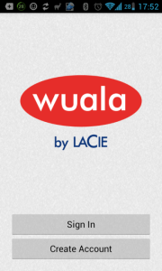 Wuala: přihlášení