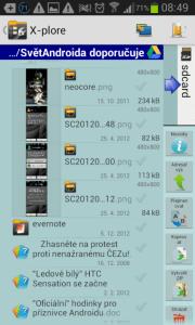 X-plore File Manager: správa souborů v cloudu