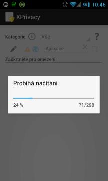 Načítání seznamu aplikací
