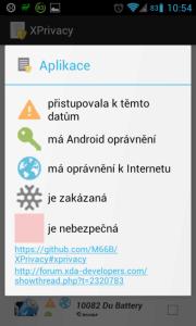 Význam tlačítek a ikon v seznamu