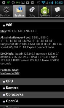 Android System Info: podvržená MAC adresa