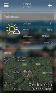 Yahoo! Počasí: podrobnosti