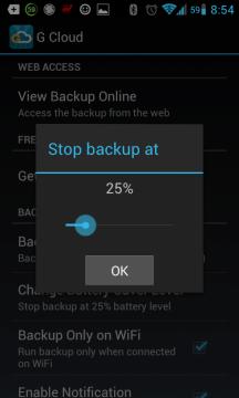 Nastavení limitu baterie