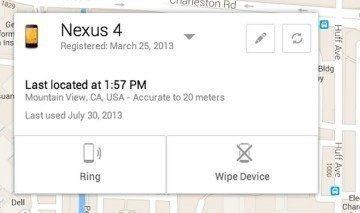 Android Device Manager: takto by mělo vypadat webové rozhraní