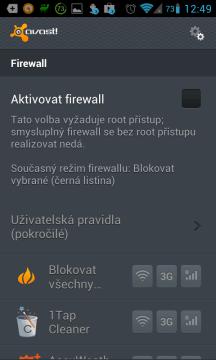 Antivirus & Anti-Theft: firewall