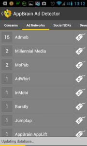 AppBrain Ad Detector: aplikace dle reklamního systému