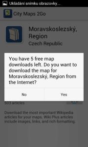 Ve verzi zdarma můžete stáhnout jen pět map