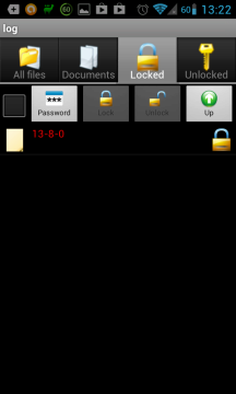 File Locker: zašifrovaný soubor