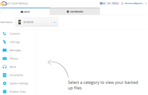 Úvodní stránka webové aplikace