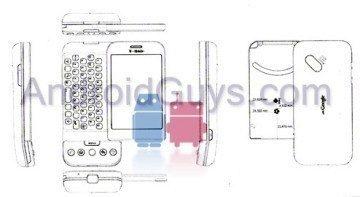 Jeden z prvních náčrtků HTC Dream