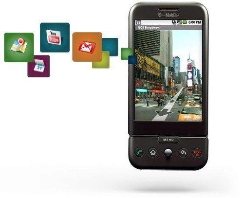 Propagační obrázky HTC Dream