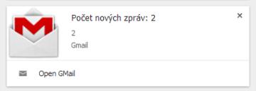 Gmail lze otevřít přímo z notifikací