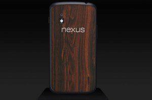 Nexus 4 s mahagonovým polepem