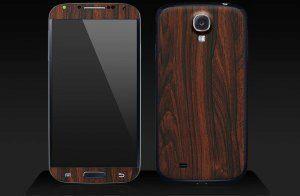 Samsung Galaxy S4 s mahagonovým polepem