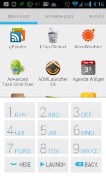 Výchozí rozhraní s klávesnicí T9