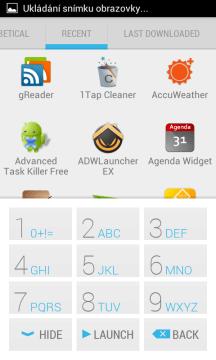 Poslední spuštěné aplikace