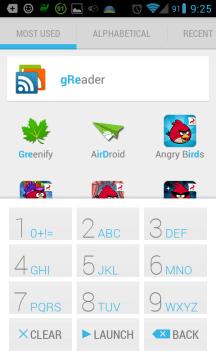 Vyhledávání v seznamu aplikací