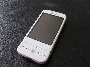 Přední strana T-Mobile G1
