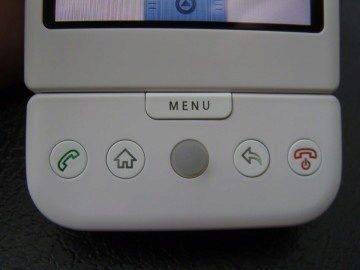 T-Mobile G1 - tlačítka pod displejem