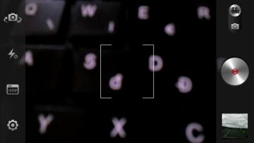 Fotoaparát v režimu natáčení videa