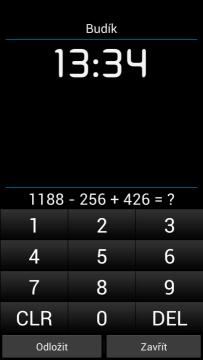 Alarm Clock Plus: budík s matematickým příkladem