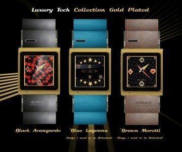 A.I Watch - luxusní varianta ve zlaté barvě s koženým páskem
