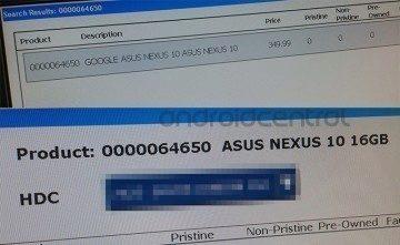 Skladové aplikace dvou obchodů potvrzují Nexus 10 od Asusu