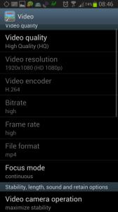 Nastavení: sekce Video