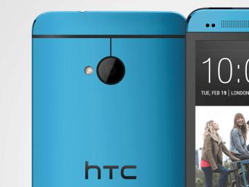HTC One v modré barvě