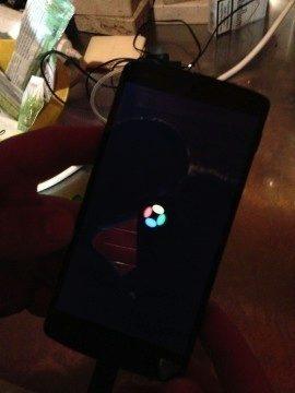 Nexus 5 - bootovací animace
