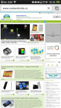 Naše stránky v prohlížeči