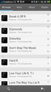 Seznam písniček