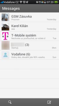 Seznam SMS konverzací