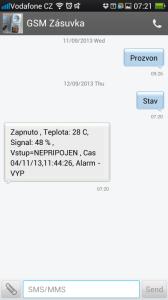 SMS konverzace
