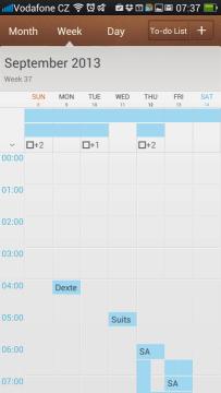 Kalendář: týdenní pohled