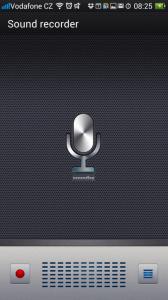 Sound Recorder: Jednoduchý záznamník zvuku
