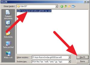 Najděte soubor CF-Auto-Root-m0-m0xx-gti9300.tar.md5 a otevřete ho.