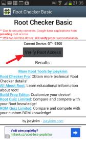 Stiskněte tlačítko Verify root access
