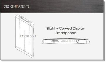 Samsung získal patent na telefon s displejem zakřiveným podle svislé osy