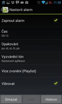 Sleep as Android: nastavení buzení