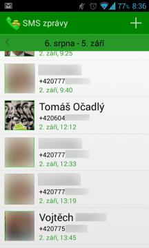 Započtené SMS