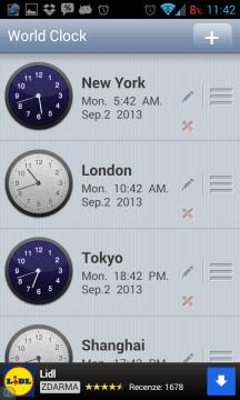 The World Time: aktuální čas ve vybraných městech